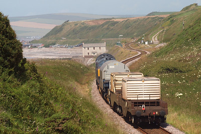 6C46 heads towards Nethertown station. 09/07/11.