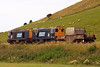 6C53 with two Class 20s near St Bees. 12/07/11.