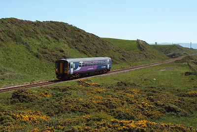 A Northern Rail Class 153 heads north at Nethertown, 26/05/12.