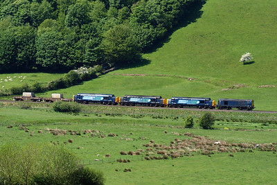 Leaving St Bees, 6C46 passes Low Walton, in the Pow Beck valley, heading north, 26/05/12.