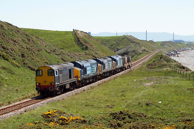 20302, 37259, 37688 Kingmoor TMD and 37612 pass Nethertown with 6C46 Sellafield - Carlisle Kingmoor TMD, 26/05/12.