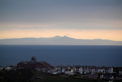 Isle of Man at dusk, seen from Whitehaven.