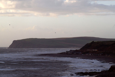 6Z22 rounds the headland at Coulderton with St Bees Head in the background. 21/09/11.