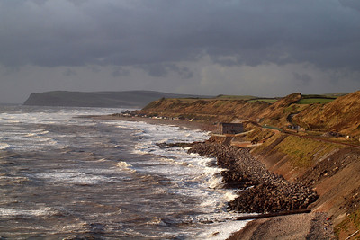 What might have been - the white horses crash against the shore at a stormy Nethertown. 21/09/11.