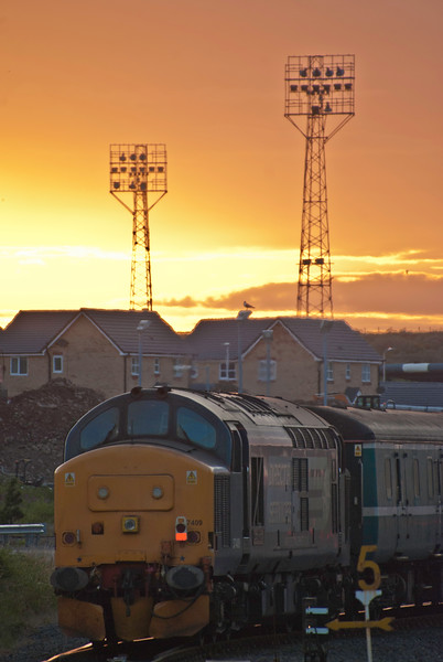Daylight is ebbing away at Barrow as the 37/4s make for the stabling point for the night