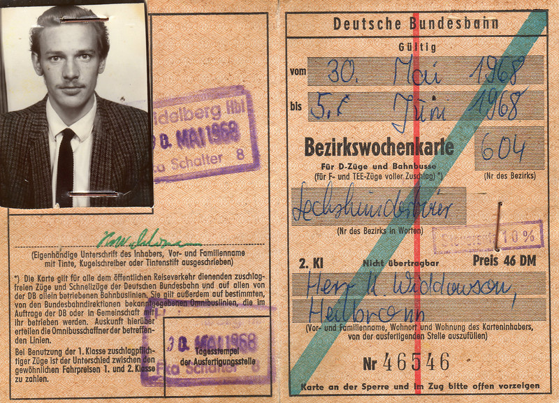 """The Black Forest """"runabout"""" ticket - which, when translated, allowed first class travel in all but the fastest trains."""