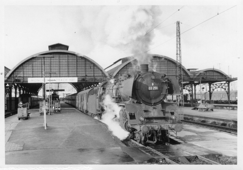 "A ""footex"" bound for Koln departs Monchengladbach on 18/05/68 - we were to catch a run with her lter that day."