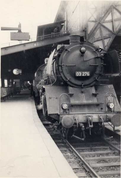 03.276 is seen here at Koln Hauptbanhof backing onto the 13 13 Frankfurt to Monchengladbach - on 18/05/68.