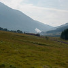 4th September 2010. LNER K4 Class 2-6-0 no 61994 The Great Marquess with Beinn Odhar in the background on the approach to Bridge of Orchy with the Glasgow to Fort William leg of the West Highlander steam excursion.