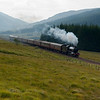 4th September 2010. LNER K4 Class 2-6-0 no 61994 The Great Marquess on the approach to Bridge of Orchy with the Glasgow to Fort William leg of the West Highlander steam excursion.