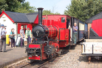 The other visiting loco at the gala was Surrey County Council Highways Department GP39 (Hudswell Clarke 1643/1930). It is seen here at Becconsall Station.