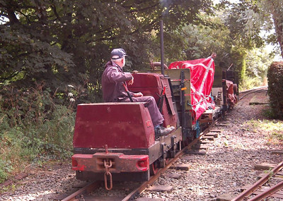 Tawd on the main line propelling the goods train towards Becconsall, 11th August 2012.