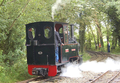 Montalban in the run-round loop at Delph Station.