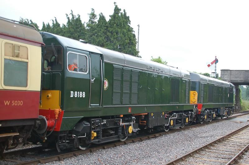 D8059 & D8188 - Williton, West Somerset Railway - 10 June 2017