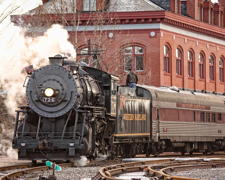 Western Maryland Scenic Railroad in Cumberland Maryland