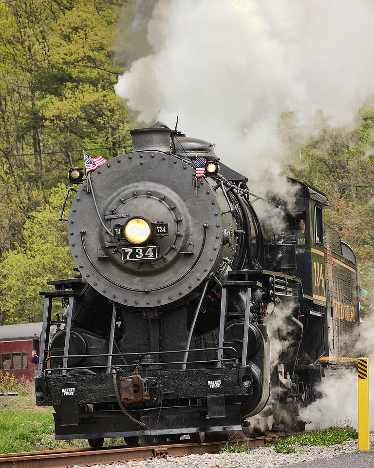 First WMSR steam run of the 2009 season Western Maryland Scenic Railroad