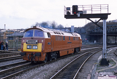 Its a last look at Bath Road depot for D1015 'Western Champion' as it runs round its train in Bristol Temple Meads during the first proper day back on the main line. The depot buildings were demolished not long after; no longer needed in an age when loco haulage of passenger trains is the exception rather than the rule.