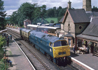 One of my earliest shots of a Western in preservation: D1013 at Arley with one of the famous 'Obbo' specials that used to be run for the enjoyment of WLA members. 25/7/87