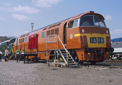 Another form of the experimental livery for D1015 is demonstrated at the final Old Oak Common Open Day in 2000.