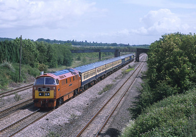 The 'Western Druid' special passes Severn Tunnel Junction, the yards of which would have been busy the last time that D1015 took this route into South Wales.