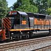 6/15/11<br /> St Denis Marc Station<br /> K111-13<br /> Westbound<br /> Hoppers<br /> Old Main Line<br /> No. 3102 SD40-3