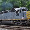 6/5/11<br /> St Denis Marc Station<br /> K110-03<br /> Eastbound<br /> Hoppers<br /> Old Main Line<br /> No. 6349 SD40-2 ex KCS