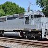 6/15/11<br /> St Denis Marc Station<br /> K111-13<br /> Westbound<br /> Hoppers<br /> Old Main Line<br /> No. 6355 SD40-2 ex KCS