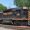 6/15/11<br /> St Denis Marc Station<br /> K111-13<br /> Westbound<br /> Hoppers<br /> Old Main Line<br /> No. 3046 SD40-3
