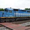 6/5/11<br /> St Denis Marc Station<br /> K110-03<br /> Eastbound<br /> Hoppers<br /> Old Main Line<br /> No. 7375 SD40-2