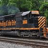 6/5/11<br /> St Denis Marc Station<br /> K110-03<br /> Eastbound<br /> Hoppers<br /> Old Main Line<br /> No. 3068 SD40-3