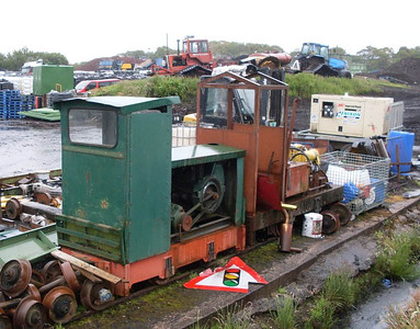 Another view of the two locos near the workshops,