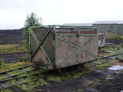 "One of the wagons used for transporting the peat. If I heard right, the staff refer to these wagons as ""bogies""."