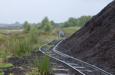 This line made quite a sharp turn beyond the end of the peat stack and headed off in a south-westerly direction