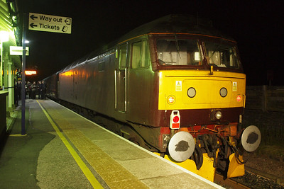47760 sits at Windermere station at midnight.