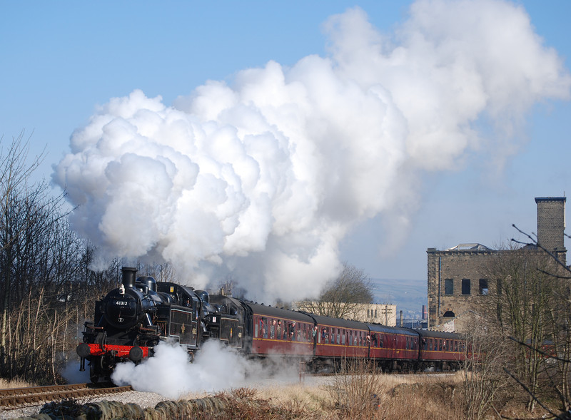 One of the guest locos at the Feb 2008 gala was Mid Hants Ivatt 41312, here making a fine sight double heading with 41241