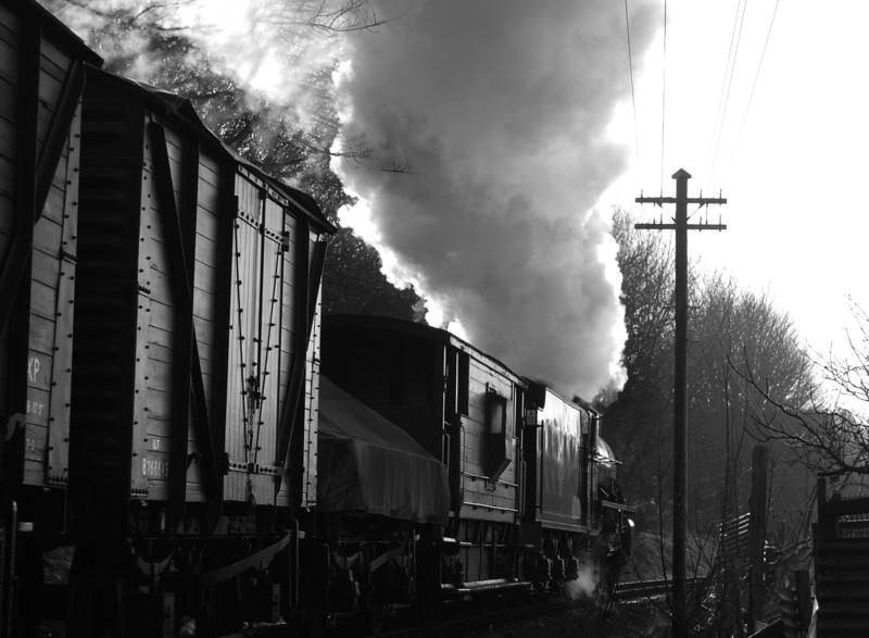 62005 on the afternoon freight approaching Ingrow at the 2008 winter gala