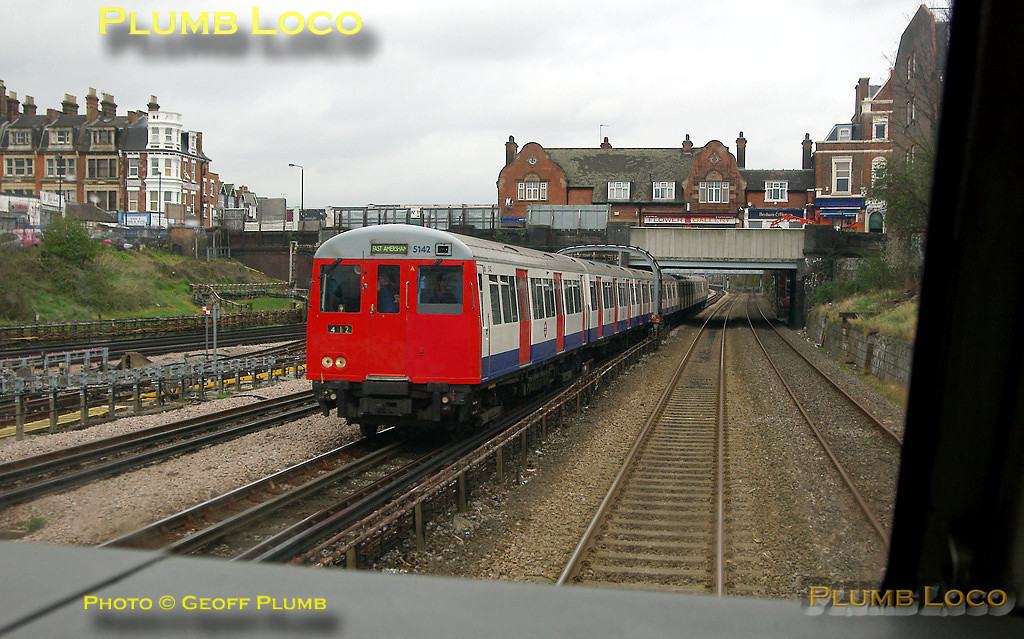 View from the cab of 67020 as the train runs alongside the Jubilee and Metropolitan Line tracks of LUL approaching West Hampstead as a Metropolitan A60 set heads for Amersham in the opposite direction. 15:17, Wednesday 2nd April 2008. Digital Image No. IMGP4245.