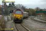 The first of the WS&MR training specials departs from Princes Risborough at 14:40 on Friday 22nd February 2008, en route from Banbury to Marylebone as 5Z23, the 14:02 from Banbury. The train is topped and tailed by 67016 and 67017. Digital Image No. IMGP3892.