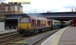"At 16:10 67017 ""Arrow"" starts away from Marylebone station, 67002 dead on the rear, with 5Z16, the Wrexham crew training run returning to Banbury. Tuesday 4th March 2008. Digital Image No. IMGP3998."