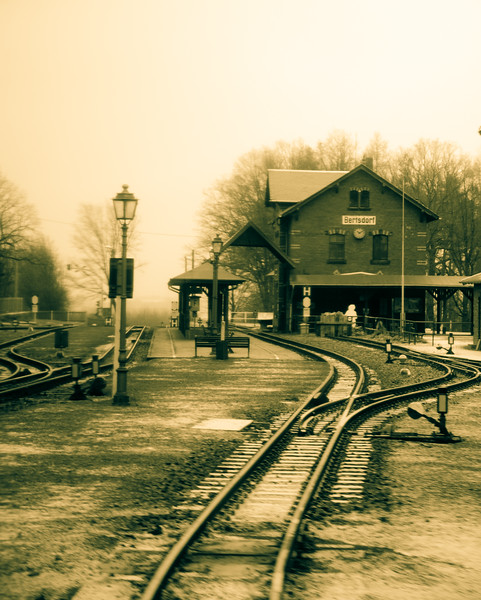 The junction station at Bertsdorf. Very well judged with not all the knick knacks and clutter you can get on British preserved railways.
