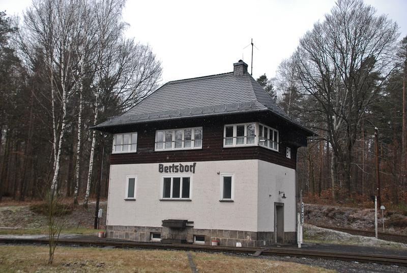 The impressive signal box at Bertsdorf