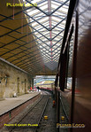 The new overall roof at Pickering station is just being given the final touches, seen from the coaches of the 12:00 train to Whitby on Monday 11th April 2011. Digital Image No. GMPI8584.