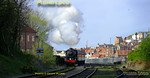 """45428 """"Eric Treacy"""" starts its train away from Whitby Town station at Bog Hall, the 17:30 to Pickering on a lovely spring evening, Saturday 9th April 2011. Digital Image No. GMPI8527."""