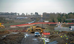 General View, HS2 & EWR, Claydon, 18th February 2021