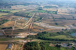 Aerial View, HS2 + EWR, Claydon, 16th September 2021