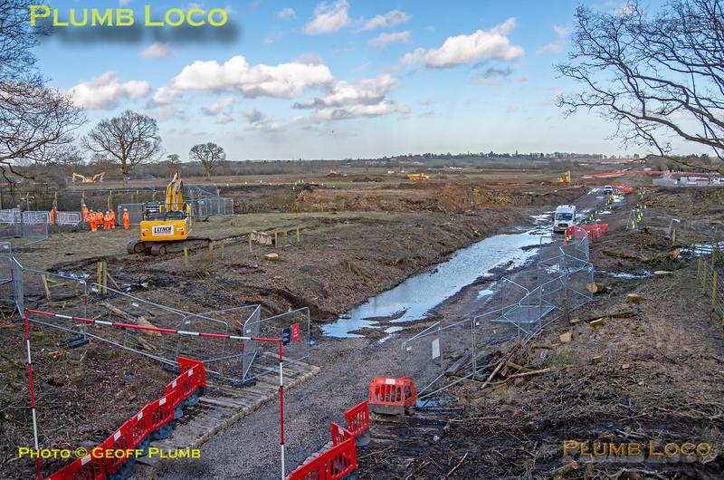General View, HS2 & EWR, Claydon, 18th February 2021
