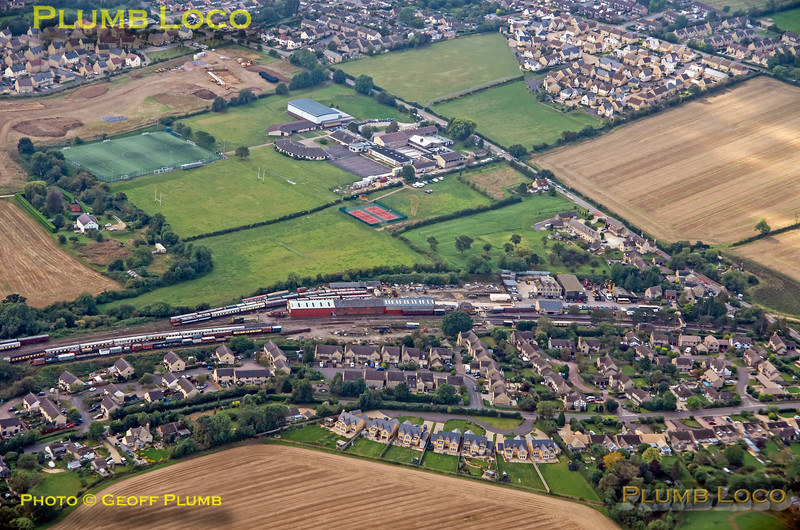 Aerial View, Winchcombe Station, 16th September 2021