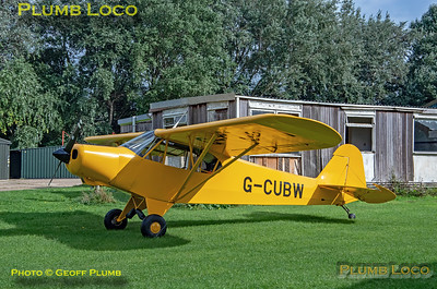 Piper Cub G-CUBW, Hinton, 16th September 2021