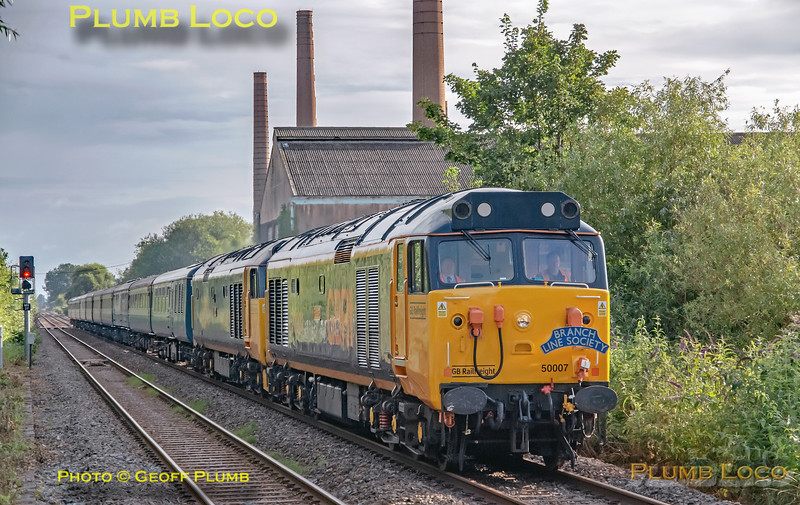 Class 50s, Stewartby, 1Z32, 31st July 2021