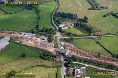 Aerial View, Finmere Station HS2, 16th September 2021